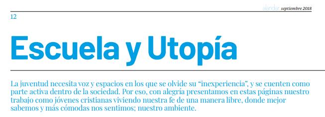 Página 1 Escuela y Utopía JEC
